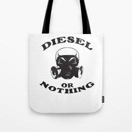 Diesel or Nothing Truck 4X4 Power Fuel Gas Mask Black Tote Bag