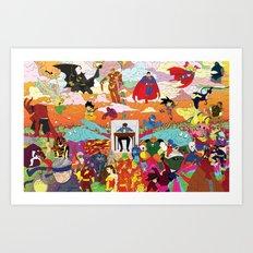 I feel Surrounded Art Print