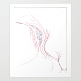 Organic Breath Art Print