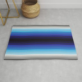 Deconstructed Serape in Blue Rug