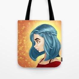 Blue braid Tote Bag