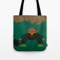spider man Tote Bags featuring Spider man by Sklett