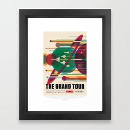 NASA Visions of the Future - The Grand Tour, a Once in a Lifetime Getaway Framed Art Print