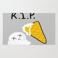ice cream Area & Throw Rugs featuring ice cream by di yirou