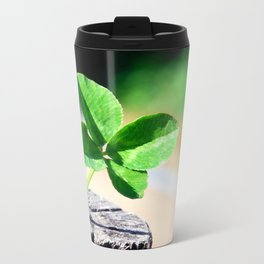 Four leaf clover for good luck Metal Travel Mug