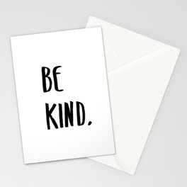 Be Kind Kindness Typography Art Stationery Cards