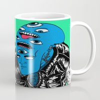 snl Mugs featuring Saturday Night Nightmare by Late Nite Draw