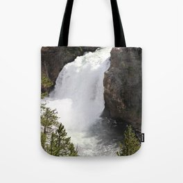 Grand Canyon Of The Yellowstone Lower Falls Tote Bag