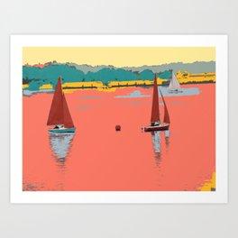 Red Sails Yachts Art Print