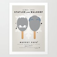 blair waldorf Art Prints featuring My MUPPET ICE POP - Statler and Waldorf by Chungkong