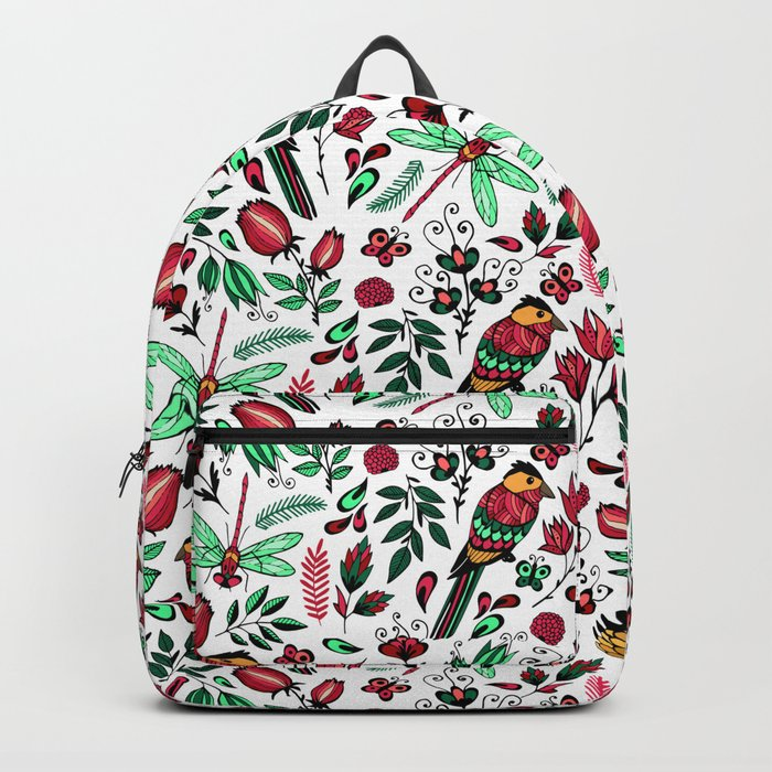 Birds and dragonflies Backpack