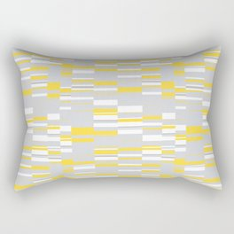 Mosaic Rectangles in Yellow Gray White #design #society6 #artprints Rectangular Pillow