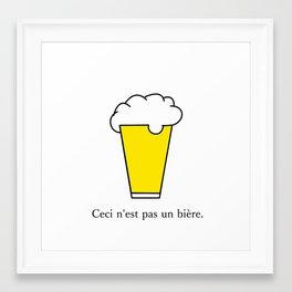 Not Beer Framed Art Print