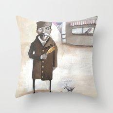 Alferd Packer's Uneaten Corn Dog Throw Pillow