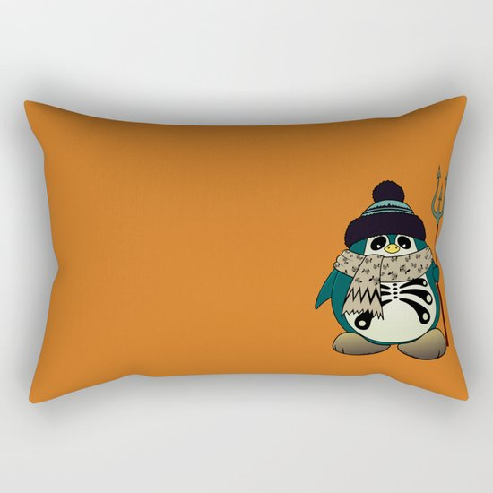 Harold The Penguin.Halloween character Rectangular Pillow