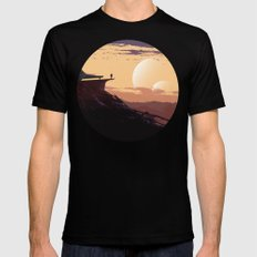 Planetary explorer Black Mens Fitted Tee MEDIUM