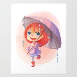 Umbrella Rain Art Print