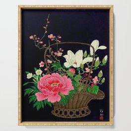 Ohara Koson Flower Basket Serving Tray