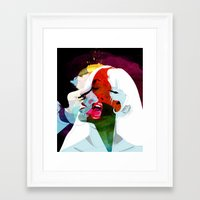 kiss Framed Art Prints featuring Kiss by Alvaro Tapia Hidalgo