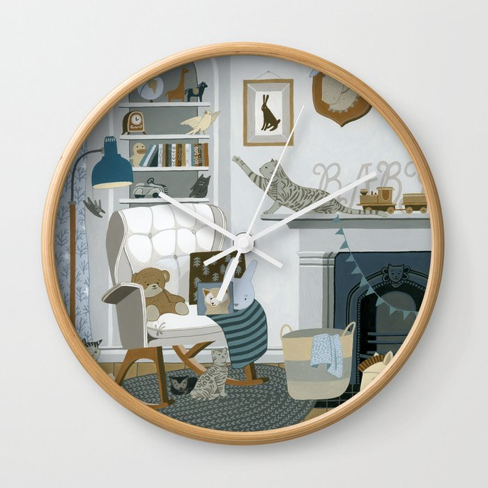 Baby Animal Nursery Wall Clock By Yuliyart