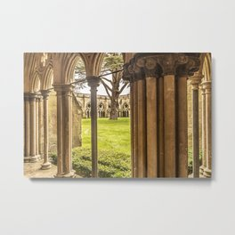 Cathedral Cloisters Metal Print