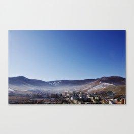 Aerial View of Ulaanbaatar Canvas Print