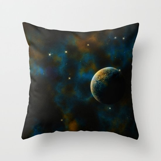 Deus Nebula Throw Pillow