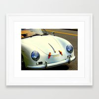 porsche Framed Art Prints featuring Porsche by Jensen Merrell Designs