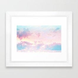 Unicorn Pastel Clouds #2 #decor #art #society6 Framed Art Print