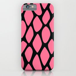 Lipstick Pink Faux Animal Trendy Print Pattern iPhone Case