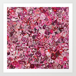 Red Blobs Art Print