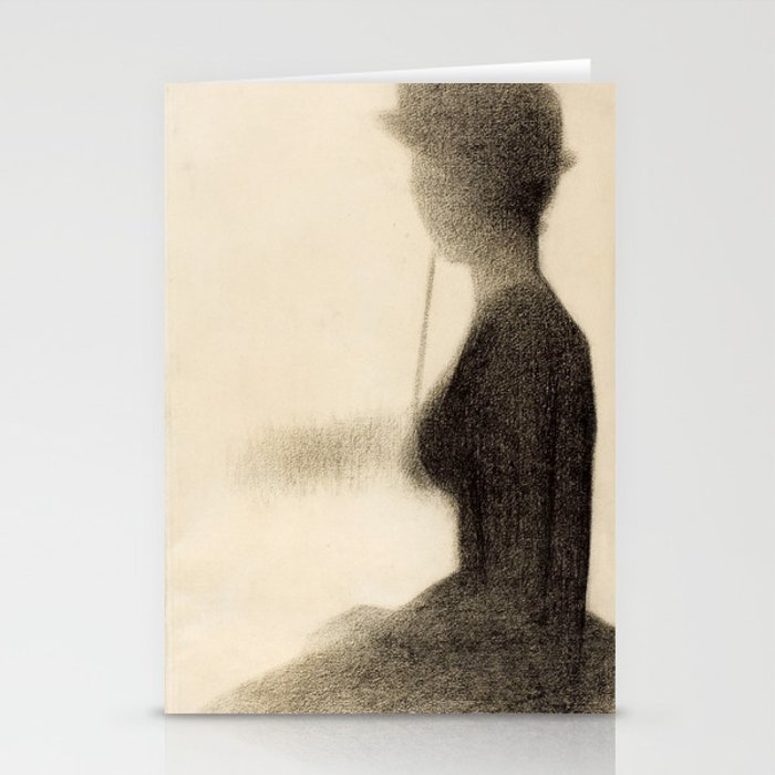 Seated Woman with a Parasol Stationery Cards