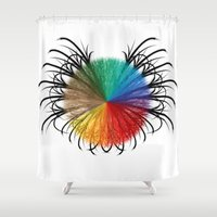 insect Shower Curtains featuring İnsect by kartalpaf