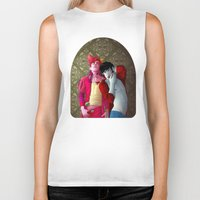 gumball Biker Tanks featuring Marshall and Gumball by Kimball Gray