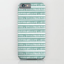Mudcloth Lines | Teal iPhone Case