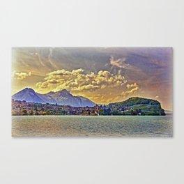 Scenic Lake Thun Canvas Print