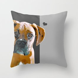 Boxer lovers Throw Pillow