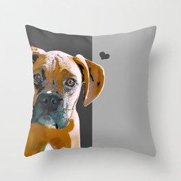 Boxer lovers Throw Pillow