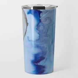 Blue Ice Arctic Abstract Travel Mug