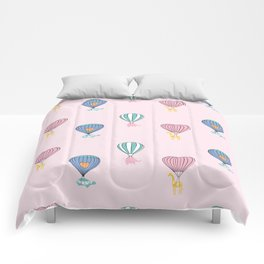Sweet balloon dreams - pink Comforters
