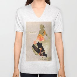 """""""I'm a bad person and I'm trying to rebuild? Help me?"""" Unisex V-Neck"""