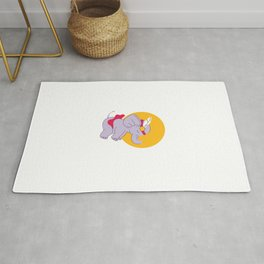 Baby Girl Elephant Wearing a Red Tutu Rug