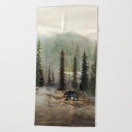 Mountain Black Bear Beach Towel