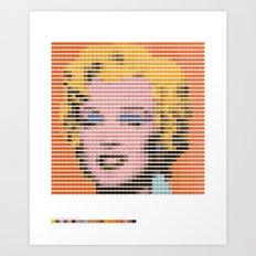 Pantone as pixel Marilyn Art Print