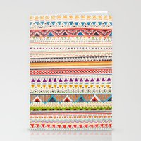 aztec Stationery Cards featuring Pattern by Sandra Dieckmann