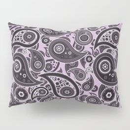 Mauve Purple Paisley Pattern Pillow Sham