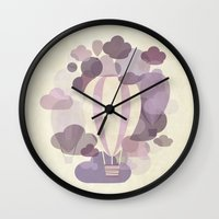 balloons Wall Clocks featuring Balloons by mirimo