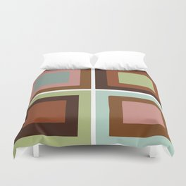 Square brown Duvet Cover