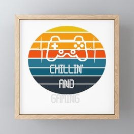 chilling and gaming Framed Mini Art Print
