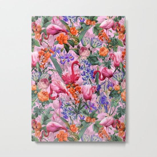 Floral and Flemingo VI pattern Metal Print